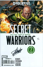 Secret Warriors #2 Dynamic Forces Signed Stan Lee DF COA Ltd 10 Nick Fury SHIELD Marvel comic book